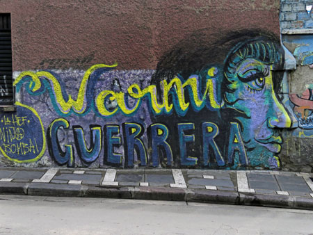 A mural in La Paz, Bolivia.