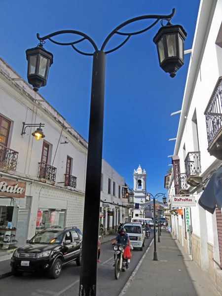 Pole position with flair in Sucre, Bolivia.