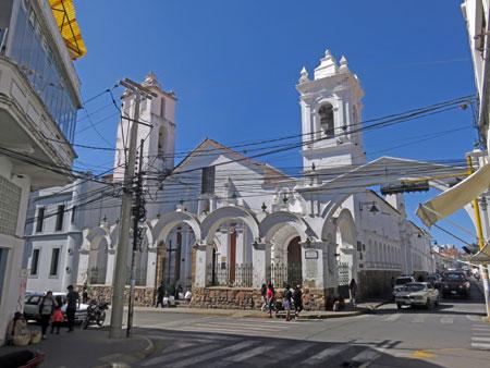 The Basilica de San Francisco de Charcas in Sucre, Bolivia.