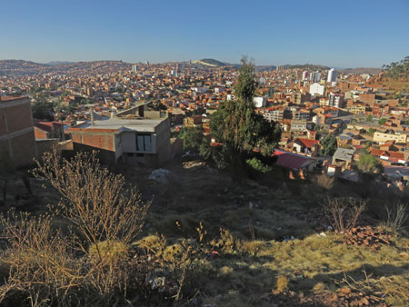 A nice view of Sucre from a lower section of Cerro Churuquella, Bolivia.