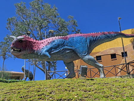 A model of Carnotosaurus at Parque Cretacico in Sucre, Bolivia.