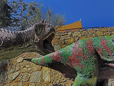 Carnotosaurus takes a bite out of crime at Parque Cretacico in Sucre, Bolivia.