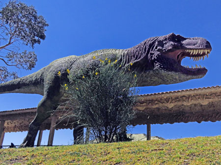 A model of Tyrannosaurus at Parque Cretacico in Sucre, Bolivia.