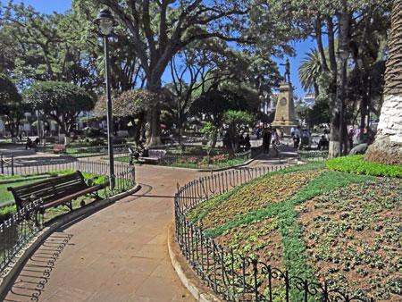 The Plaza 25 de Mayo in Sucre, Bolivia.