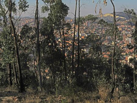 A view of the city from Cerro Churuquella in Sucre, Bolivia.