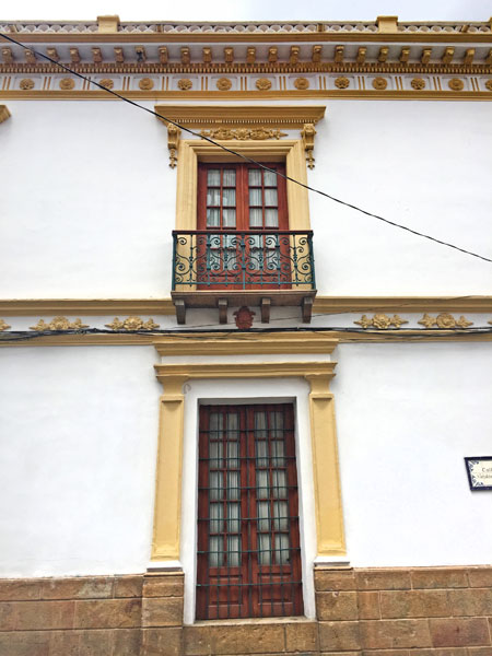 Elegant windows in Sucre, Bolivia.