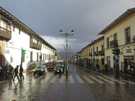 Stay focused in the rain in Cuzco, Peru.