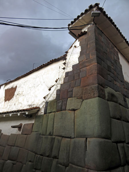 An Inca wall in the back lanes of Cuzco, Peru.