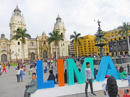 Welcome to the Plaza de Armas in Lima, Peru.