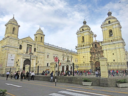 The Basilica de San Francisco in Lima, Peru.