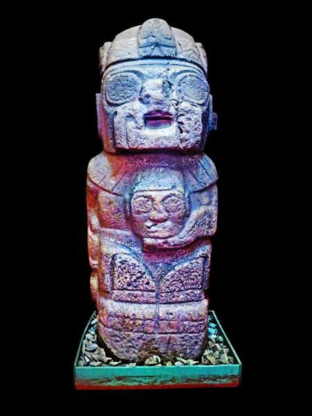 Hatun Naqak at the Museo Litico Pukara in Pukara, Peru.