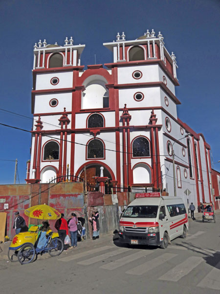 A Catholic church in Puno, Peru.