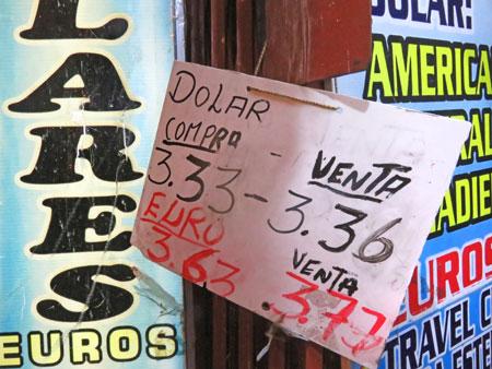 Font chaos in Puno, Peru.
