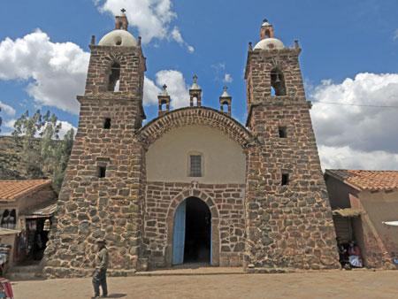 The Iglesia de Raqchi in San Pedro, Peru.
