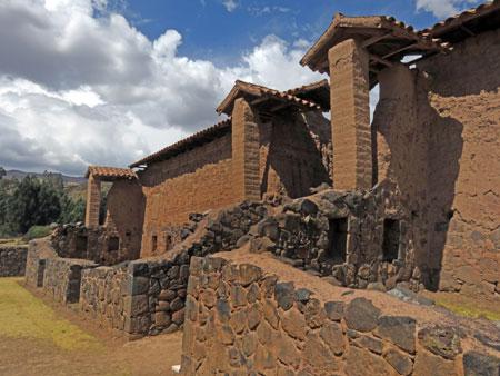 The Temple of Wiracocha at Raqchi in San Pedro, Peru.