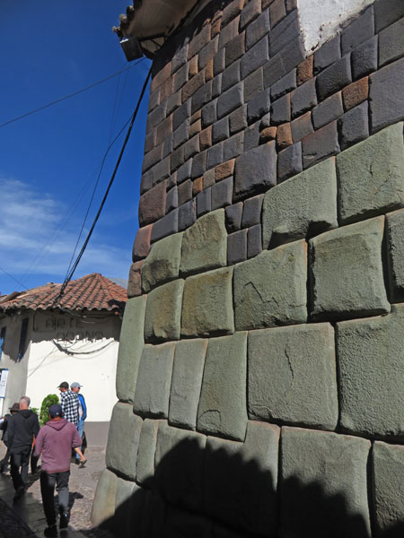 The precise stone work of the Incas is evident in the back lanes of Cuzco, Peru.