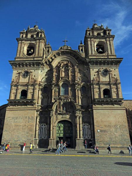 The Iglesia De La Compañia De Jesús in Cuzco, Peru.