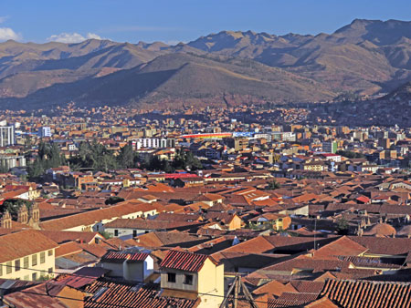 Another overview of central Cuzco, Peru.