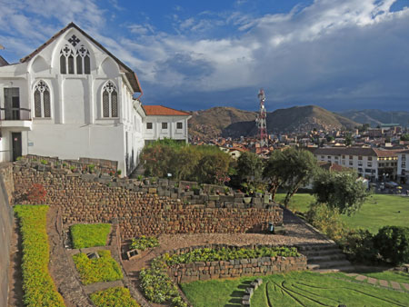 The Jardin Sagrado at Qorikancha in Cuzco, Peru.