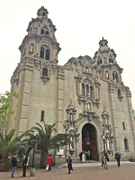 The Parroquia La Virgen Milagrosa in Lima, Peru.