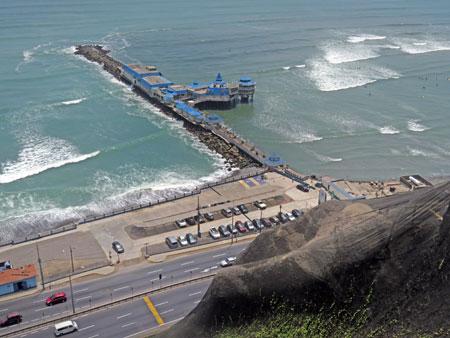 The pier in Miraflores, Lima, Peru.