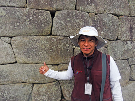This is Hilberto, our guide to Machu Picchu.