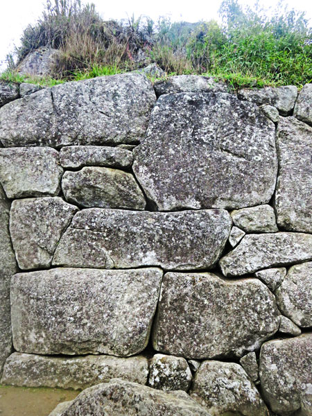 More amazing stonework by the Incas at Machu Picchu, Peru.