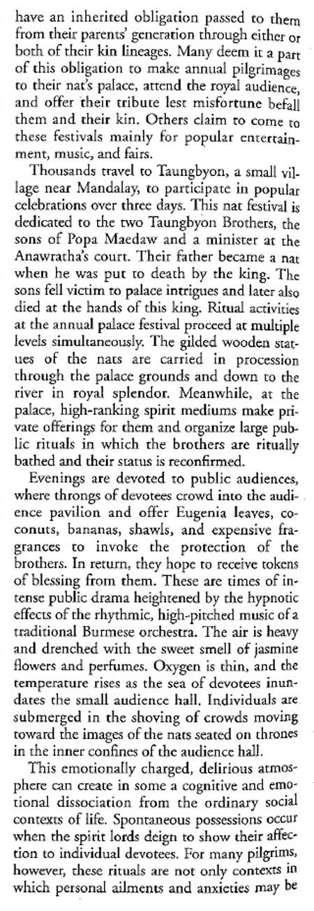 Burmese Spirit Lords and Their Mediums.